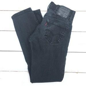 Levi's 511 Slim Straight Black Jeans 30x32